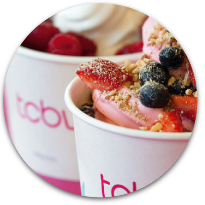Yogurt with toppings